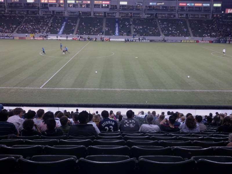 Seating view for StubHub Center Section 131 Row x Seat 16