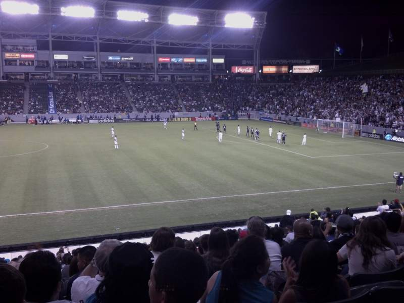 Seating view for StubHub Center Section 131 Row x Seat 15