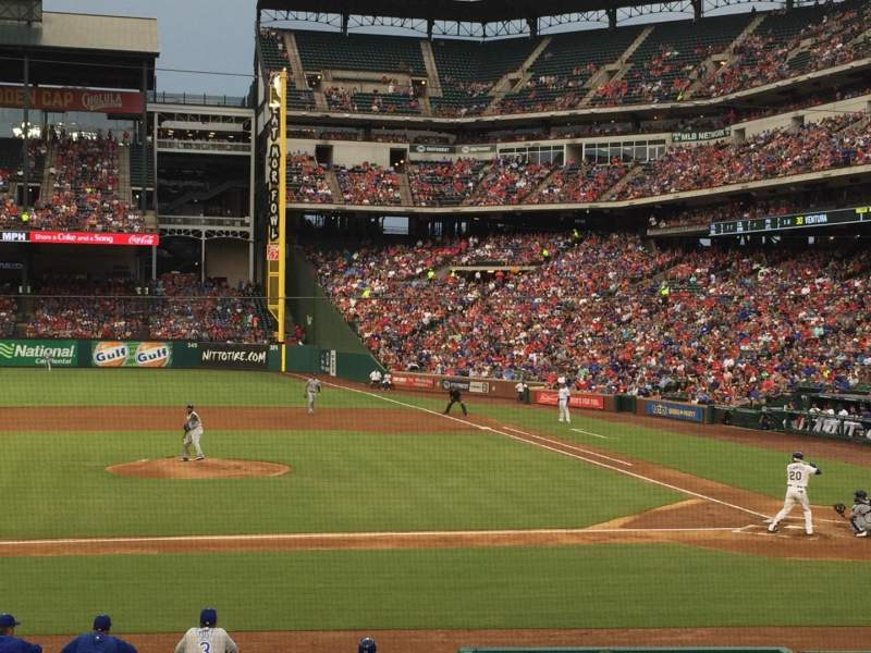 Seating view for Globe Life Park in Arlington Section 20 Row 16 Seat 6