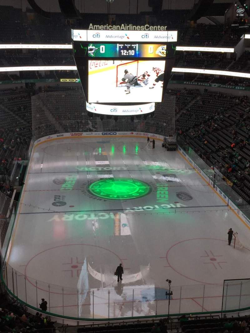 Seating view for American Airlines Center Section 319 Row D Seat 3