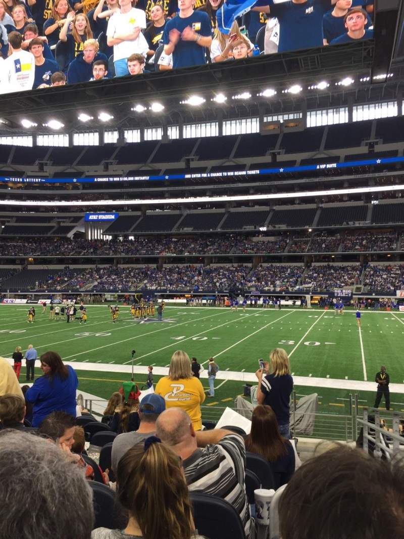 Seating view for AT&T Stadium Section C109 Row 10 Seat 2