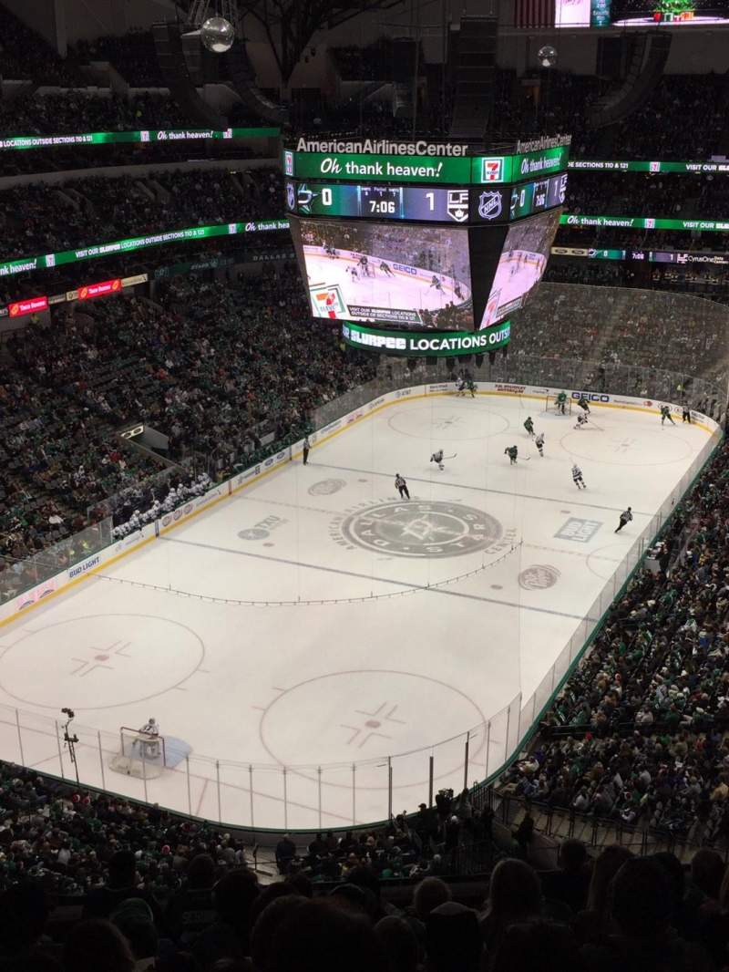 Seating view for American Airlines Center Section 316 Row J Seat 6