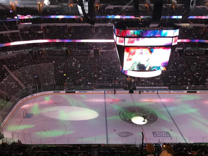 Seating view for American Airlines Center Section 311 Row L Seat 9