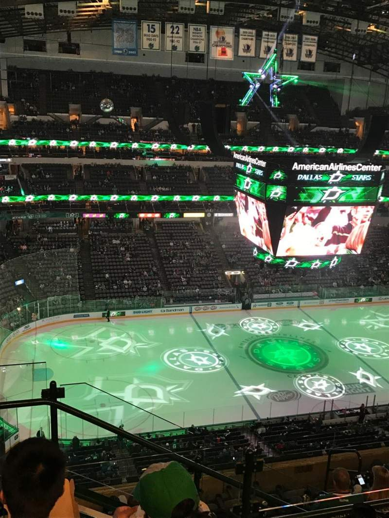 Seating view for American Airlines Center Section 312 Row J Seat 19