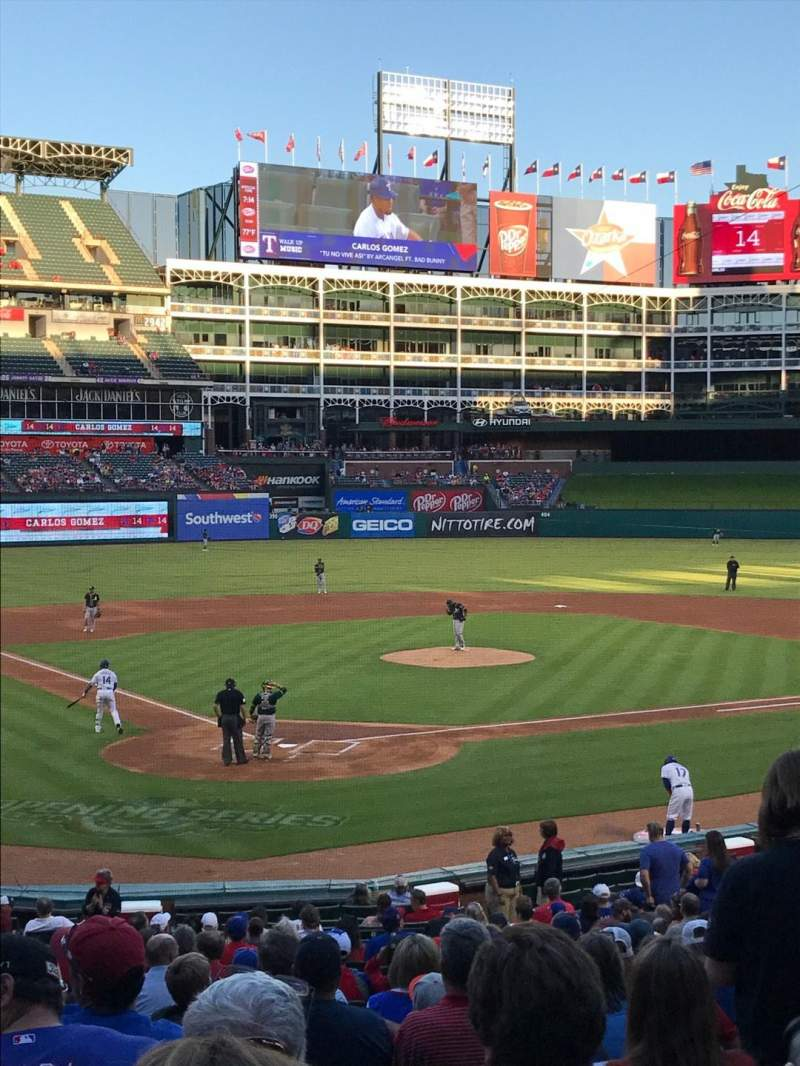Seating view for Globe Life Park in Arlington Section 28 Row 25 Seat 5