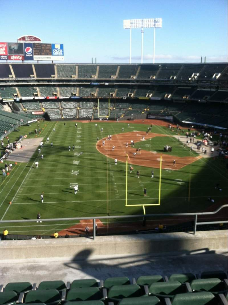 Seating view for Oakland Alameda Coliseum Section 229 Row 6 Seat 16