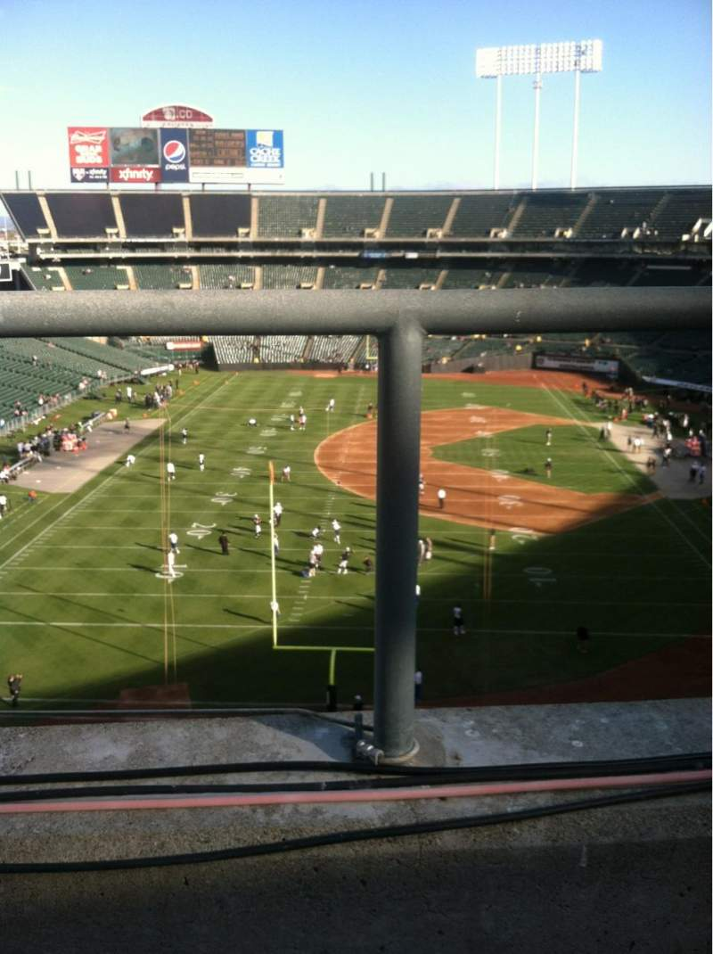 Seating view for Oakland Alameda Coliseum Section 328 Row 1 Seat 15