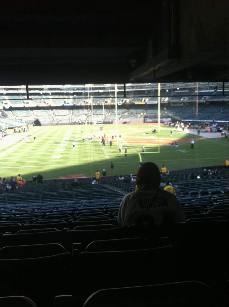 Seating view for Oakland Alameda Coliseum Section 228 Row 10  Seat 12