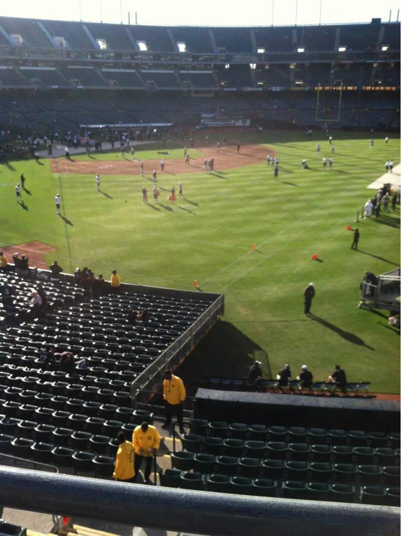 Seating view for Oakland Alameda Coliseum Section 202 Row 11 Seat 4