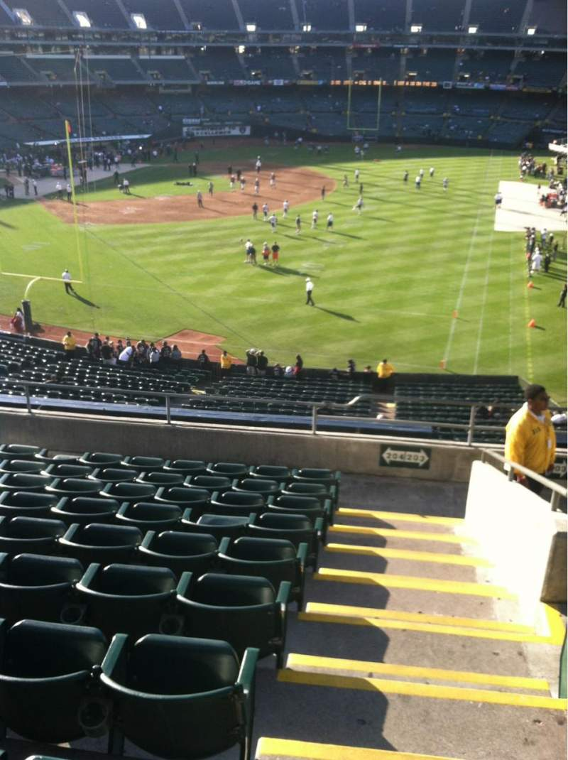Seating view for Oakland Alameda Coliseum Section 204 Row 10 Seat 1