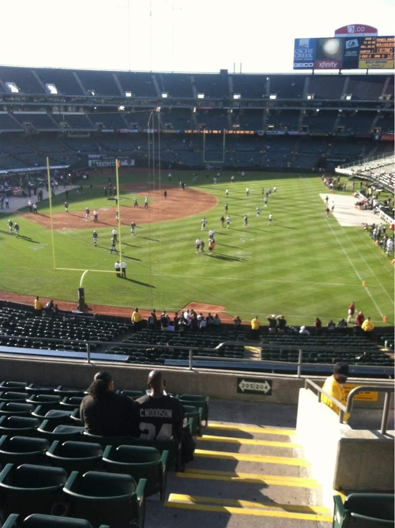 Seating view for Oakland Alameda Coliseum Section 205 Row 10 Seat 1