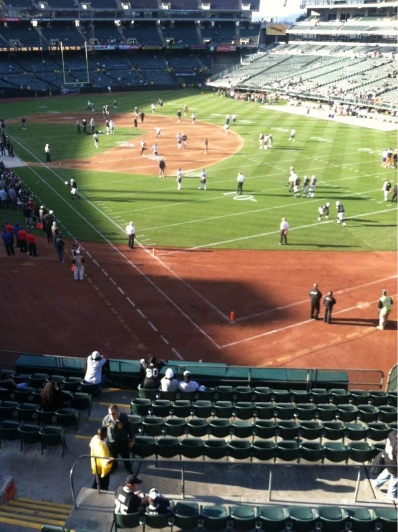Seating view for Oakland Alameda Coliseum Section 210 Row 11 Seat 4