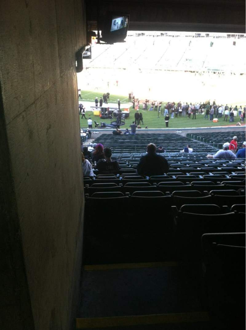 Seating view for Oakland Alameda Coliseum Section 113 Row 38 Seat 1