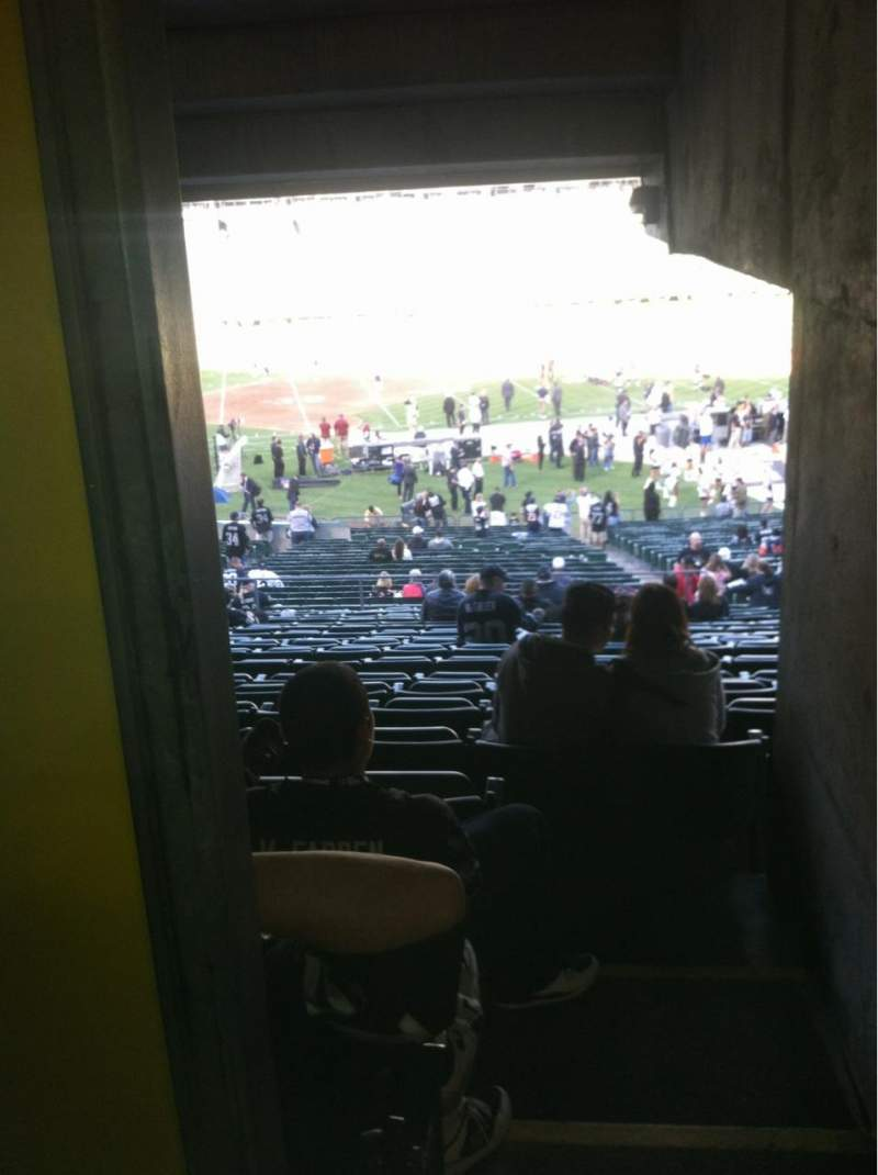 Seating view for Oakland Alameda Coliseum Section 119 Row 38 Seat 22