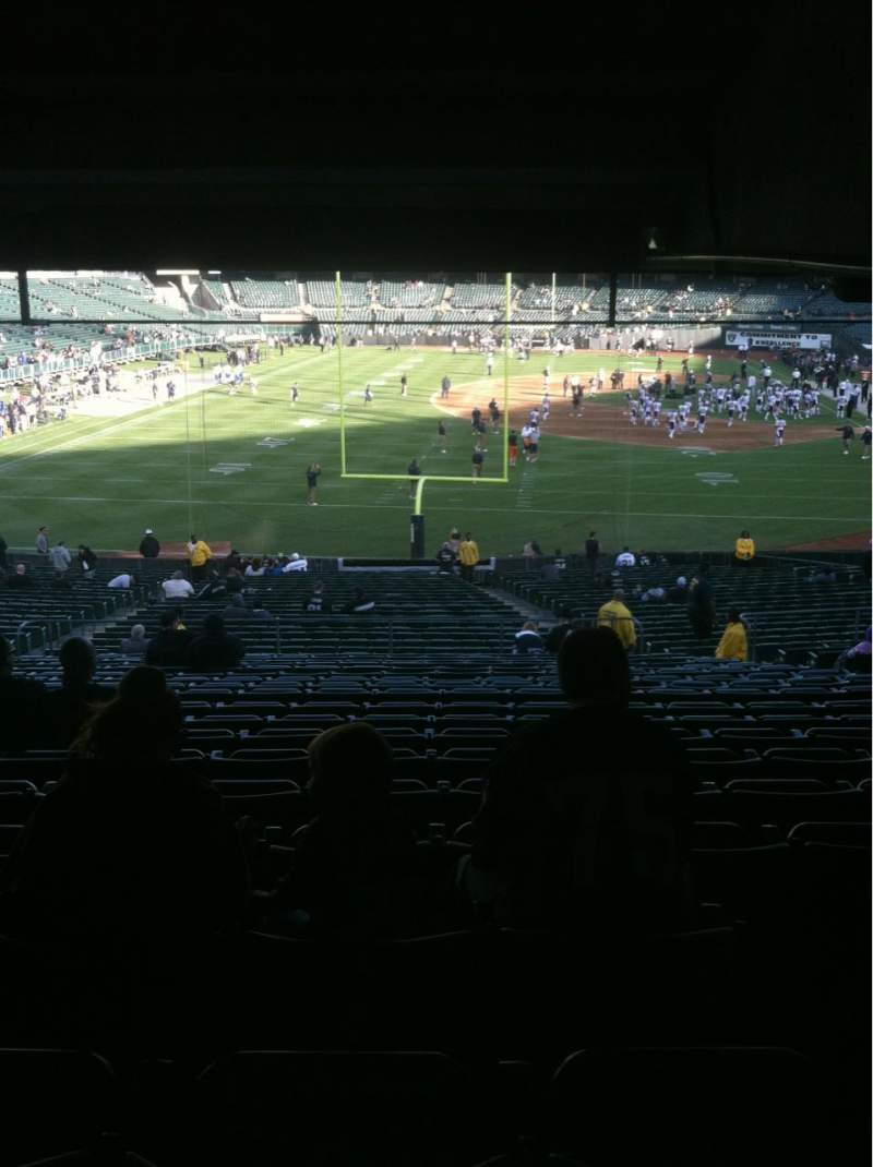 Seating view for Oakland Alameda Coliseum Section 128 Row 38 Seat 10