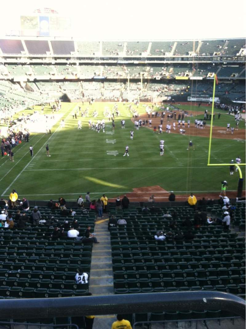 Seating view for Oakland Alameda Coliseum Section 229 Row 1 Seat 1