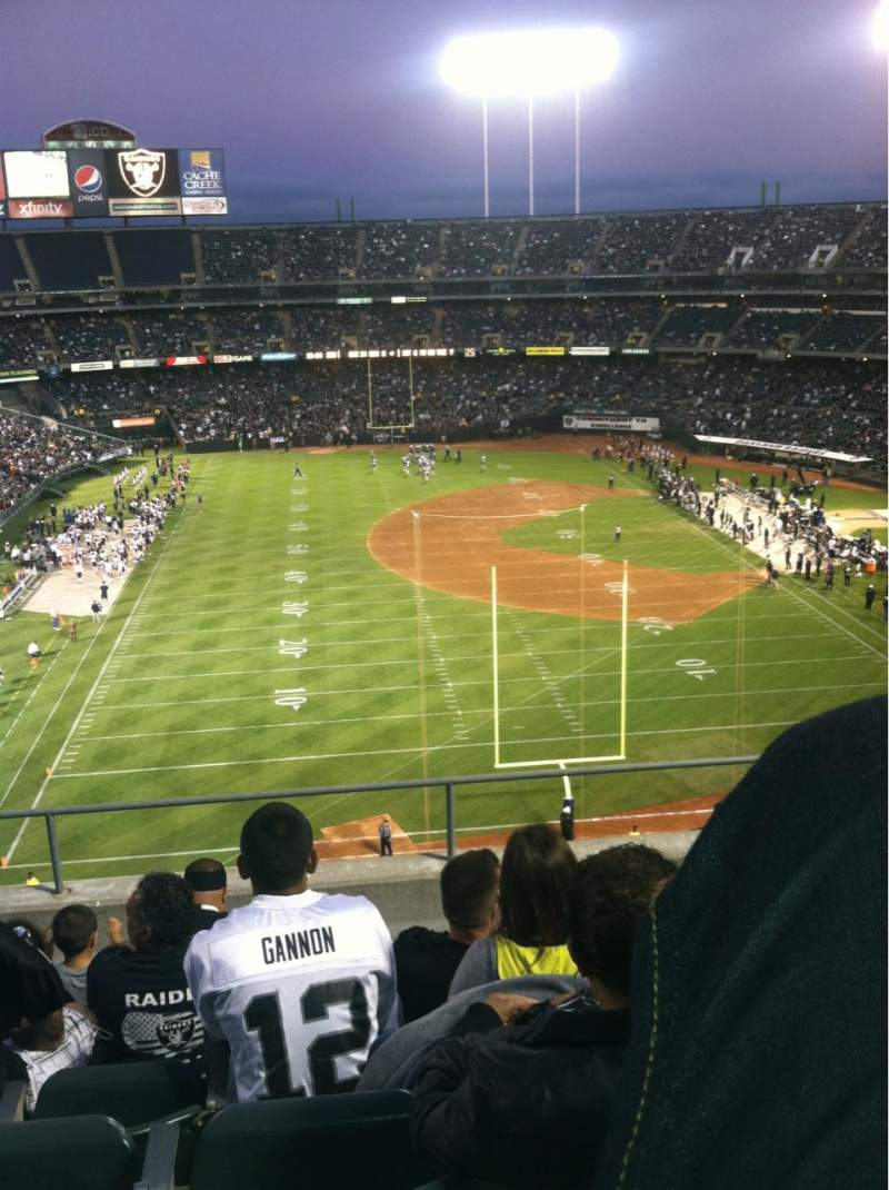 Seating view for Oakland Alameda Coliseum Section 329 Row 6 Seat 15