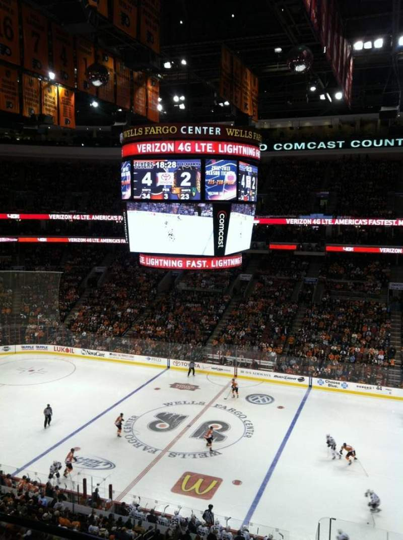 Seating view for Wells Fargo Center Section 202 Row 1 Seat 20