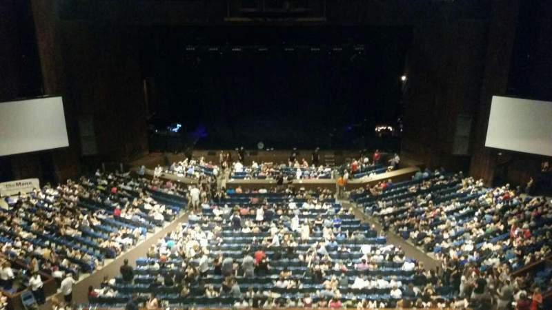 Seating view for The Mann Section Balcony Box 19 Seat 8