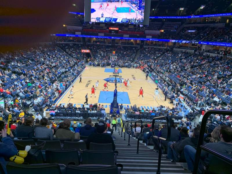 Seating view for FedEx Forum Section 118 Row AA Seat 1