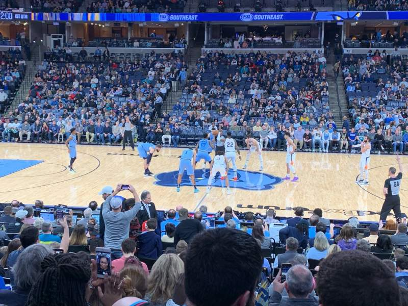 Seating view for FedEx Forum Section 105 Row R Seat 5
