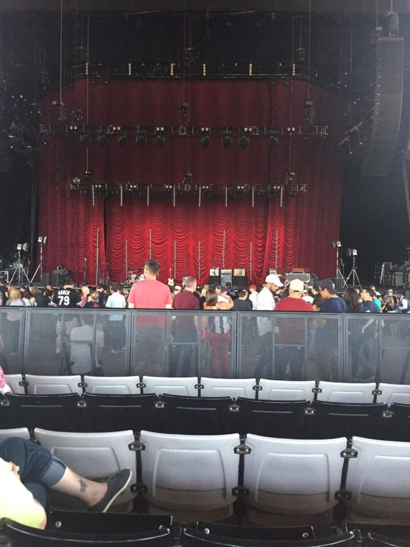 Seating view for Hollywood Casino Amphitheatre (Tinley Park) Section 103 Row X Seat 18