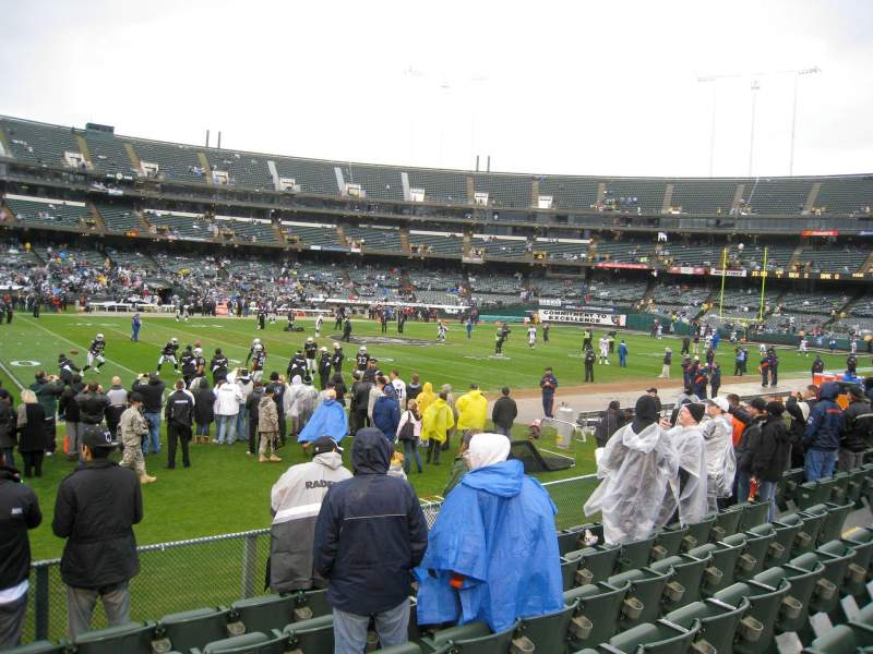 Seating view for Oakland Alameda Coliseum Section 145 Row 15 Seat 2
