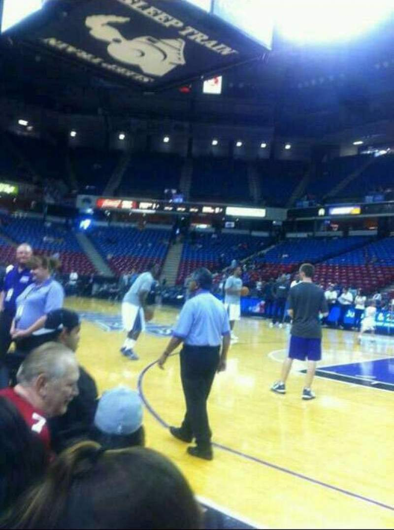 Seating view for sleep train arena Section court side