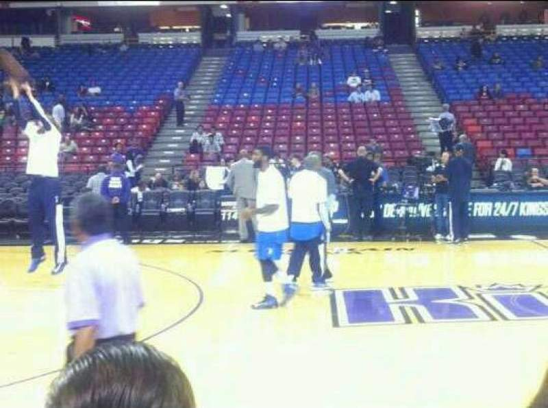 Seating view for Sleep Train Arena Section Court side Row  a Seat 1