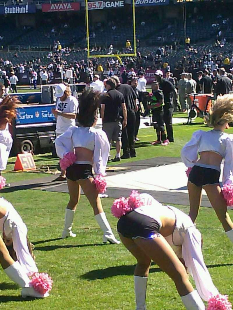 Seating view for Oakland Alameda Coliseum Section 128 Row 1 Seat 1