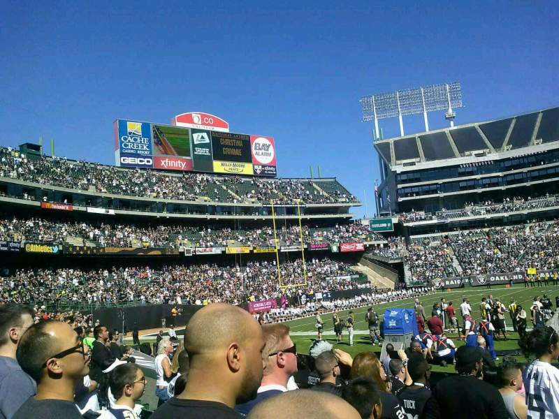 Seating view for Oakland Alameda Coliseum Section 128 Row 10 Seat 7