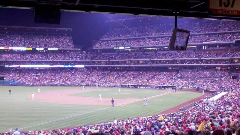 Seating view for Citizens Bank Park Section 137 Row 40 Seat 18