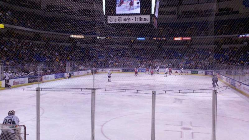 Seating view for Mohegan Sun Arena at Casey Plaza Section 122 Row h Seat 13