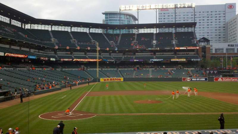 Seating view for Oriole Park at Camden Yards Section 26 Row 21 Seat 10