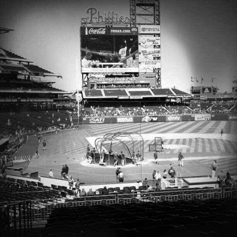Seating view for Citizens Bank Park Section 120 Row 34 Seat 12