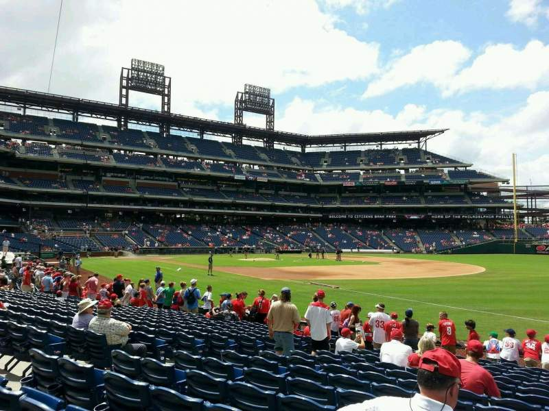 Seating view for Citizens Bank Park Section 111 Row 15 Seat 6