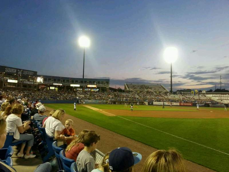 Seating view for Frawley Stadium Section 1 Row 2 Seat 4