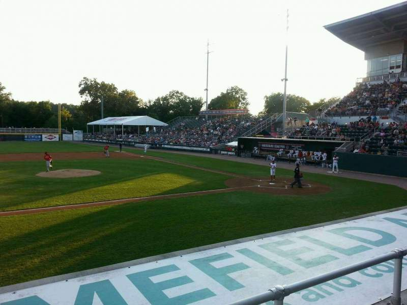 Seating view for FNB Field Section 105 Row 6 Seat 22