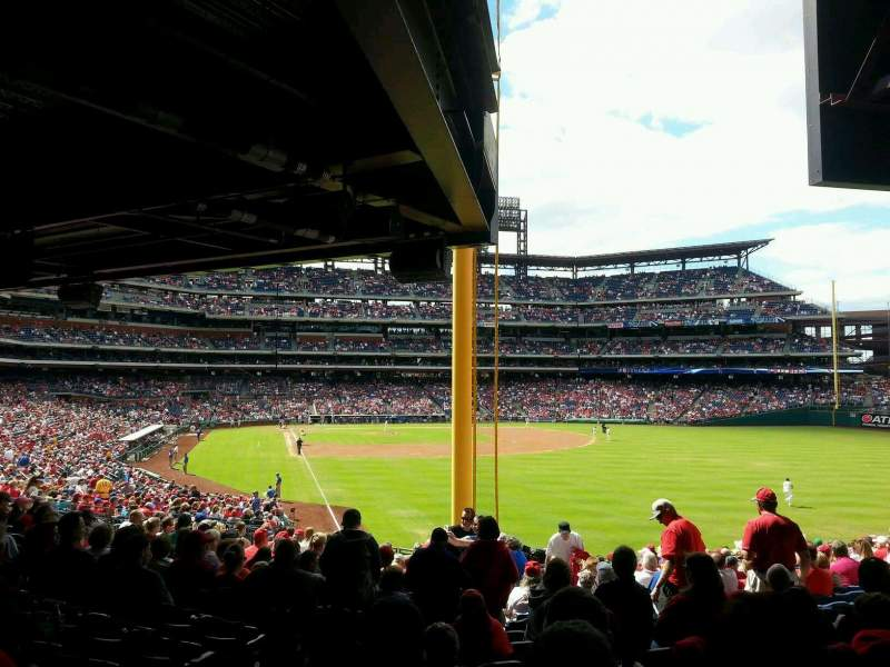 Seating view for Citizens Bank Park Section 107 Row 20 Seat 9