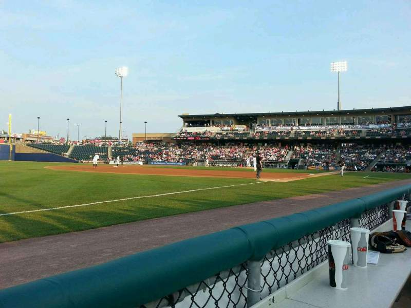 Seating view for Coca-Cola Park Section 120 Row a Seat 16