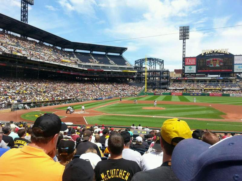Seating view for PNC Park Section 112 Row l Seat 4
