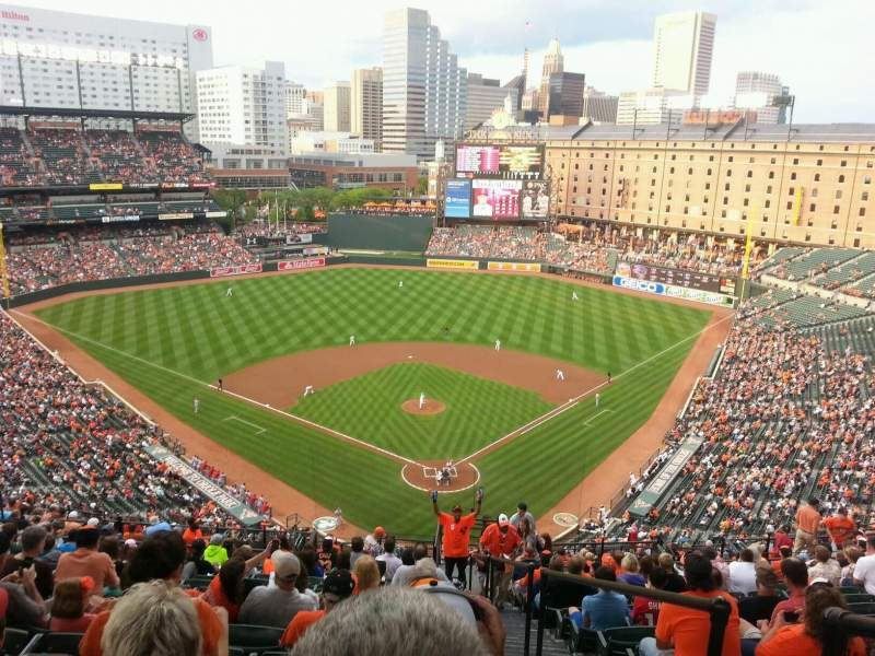 Seating view for Oriole Park at Camden Yards Section 340 Row 23 Seat 1