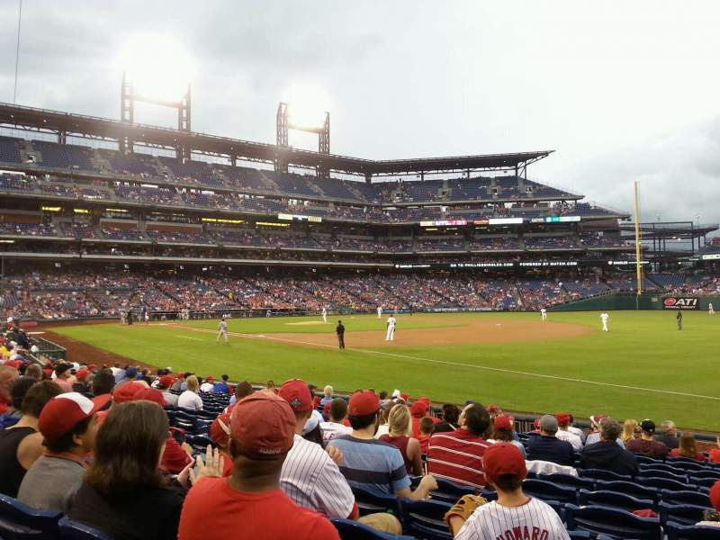 Seating view for Citizens Bank Park Section 111 Row 15 Seat 5