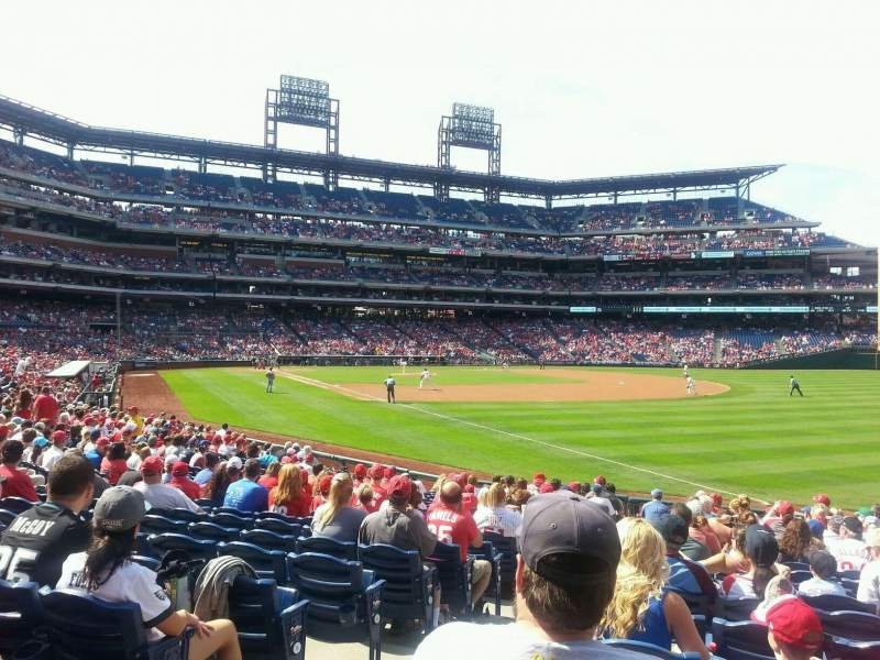 Seating view for Citizens Bank Park Section 109 Row 19 Seat 17