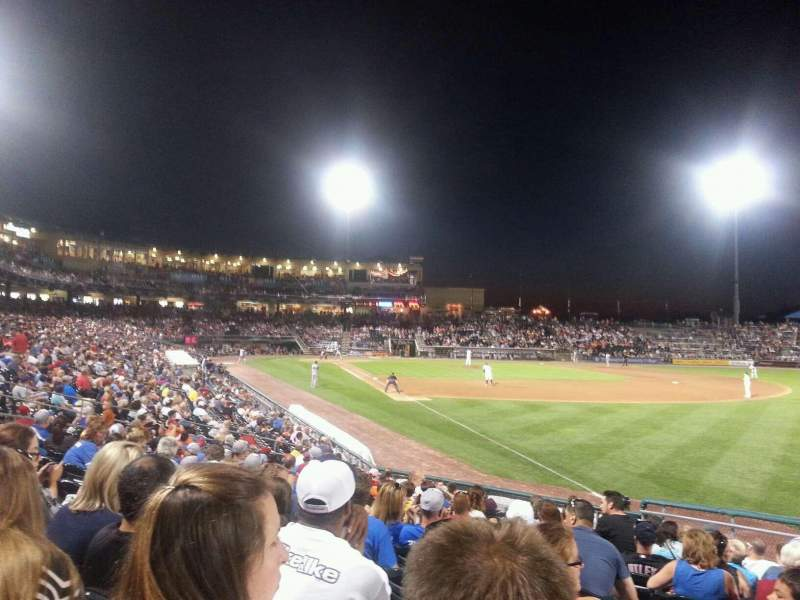 Seating view for Coca-Cola Park Section 102 Row r Seat 20