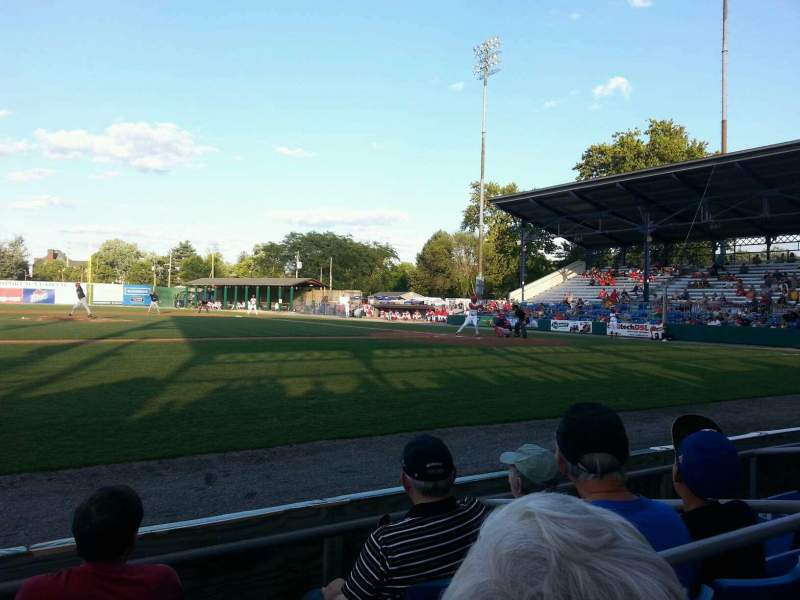 Seating view for BB&T Ballpark at Historic Bowman Field Section aa Row d Seat 4