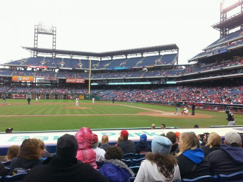 Seating view for Citizens Bank Park Section 130 Row 9 Seat 7