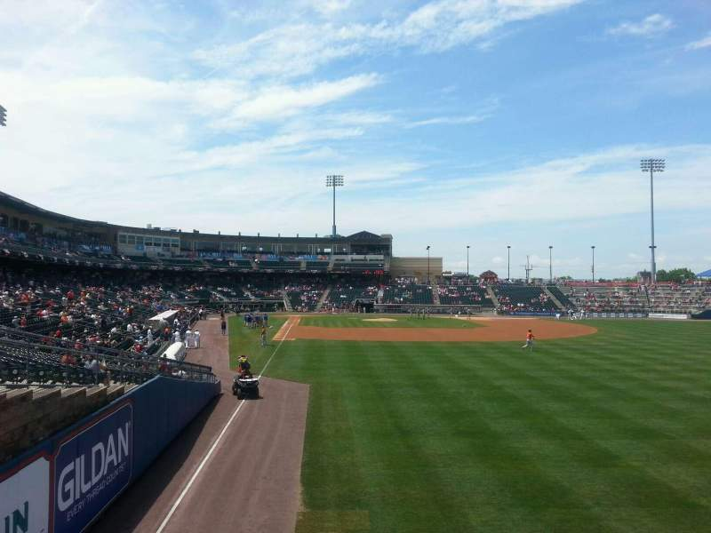 Seating view for Coca-Cola Park Section bacon Row 1 Seat 4