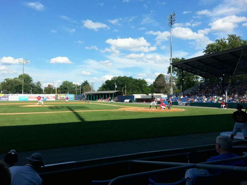 Seating view for BB&T Ballpark at Historic Bowman Field Section z Row e Seat 3