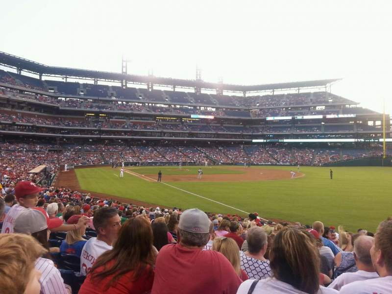 Seating view for Citizens Bank Park Section 109 Row 24 Seat 4